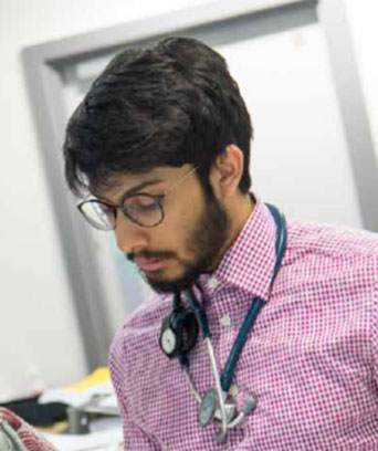 Male A&E doctor with stethoscope